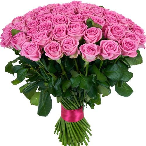 Купить на заказ Букет из 101 розовой розы с доставкой в Текели