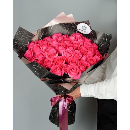 Купить на заказ Букет из 51 розовых роз с доставкой в Текели