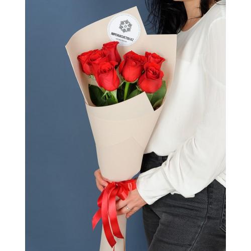 Купить на заказ Букет из 7 роз с доставкой в Текели
