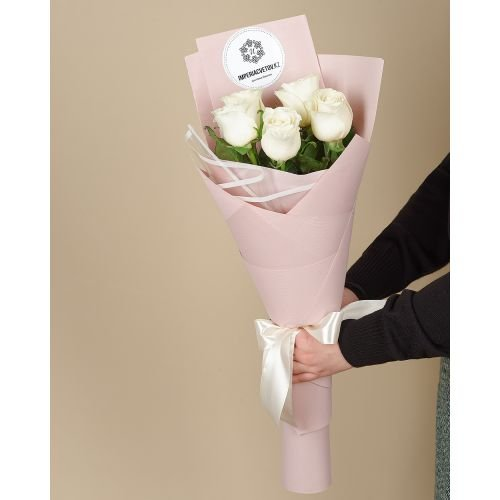 Купить на заказ Букет из 5 роз с доставкой в Текели